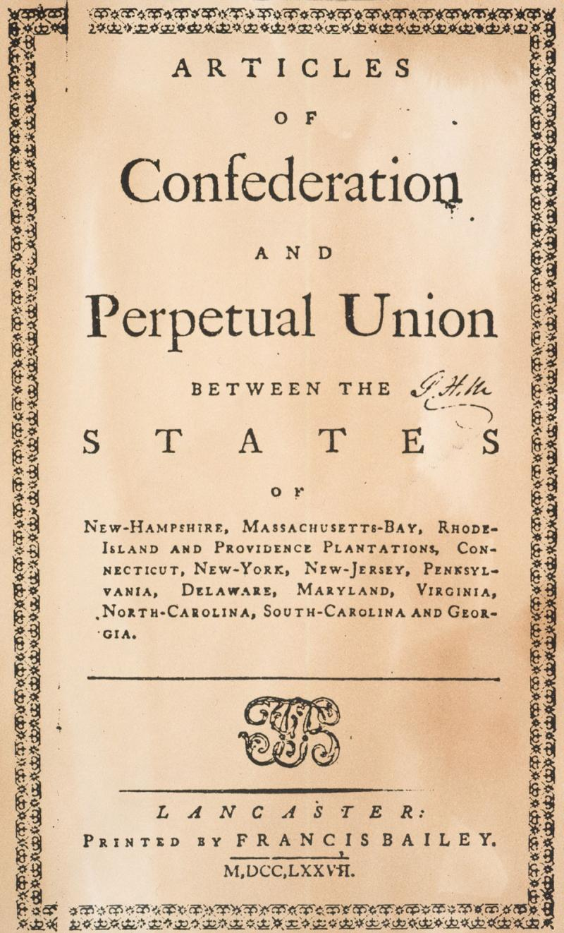 America Under The Articles Of Confederation 1783 1789