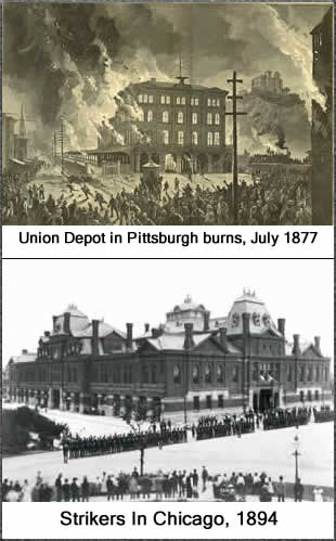 strikes in 1877 & 1894