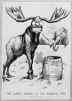 bull moose cartoon